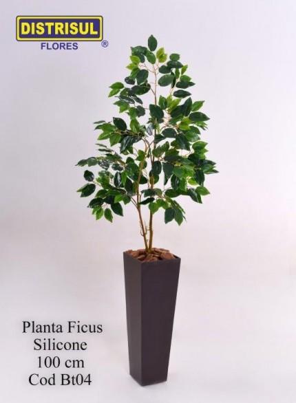 Bt04 - Planta Ficus Silicone com 1m