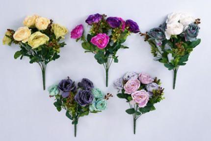 1482 - Boque Rosas 43cm