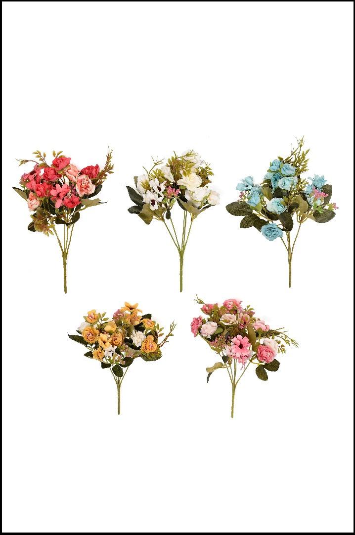 1590 - Buque Mini Rosas C/ Margaridas