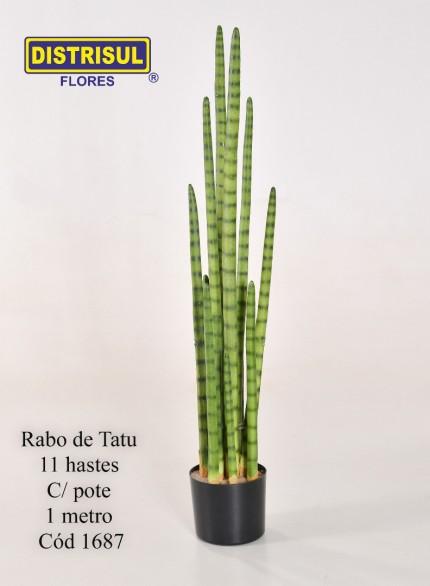 1687 - Rabo de Tatu C/ Pote 11 Hastes - 1 Mt